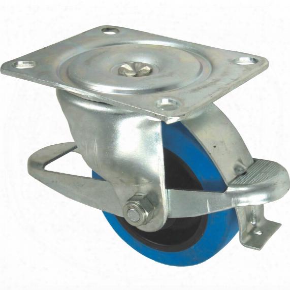 Flexello 61-ser' Swivel Plate 100m M Nylon/blue Rubber Braked