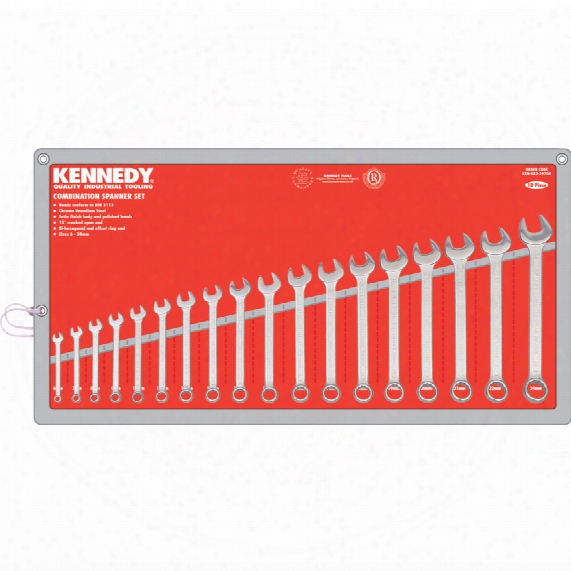Kennedy 6-24mm Cv Combination Spanner Set 18pc