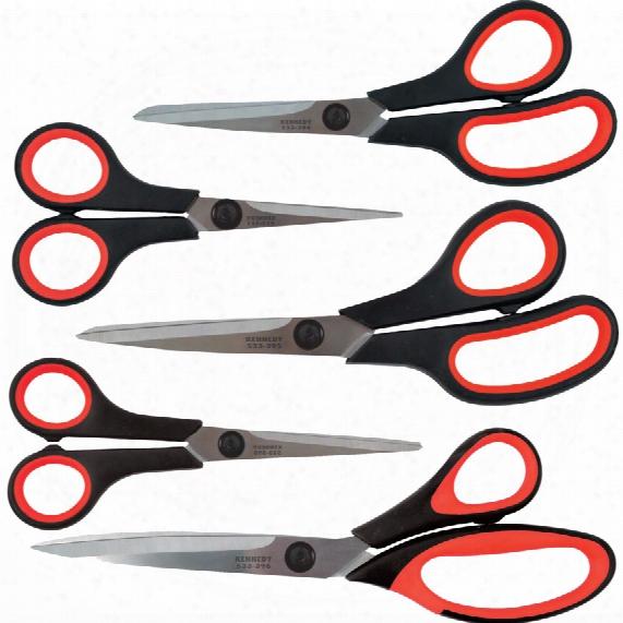 Kennedy Bi-material Grip Scissors Set (5pc)