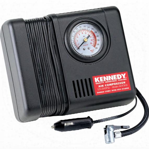 Kennedy Mini Air Compressor 300ps I C/w Pressure Gauge