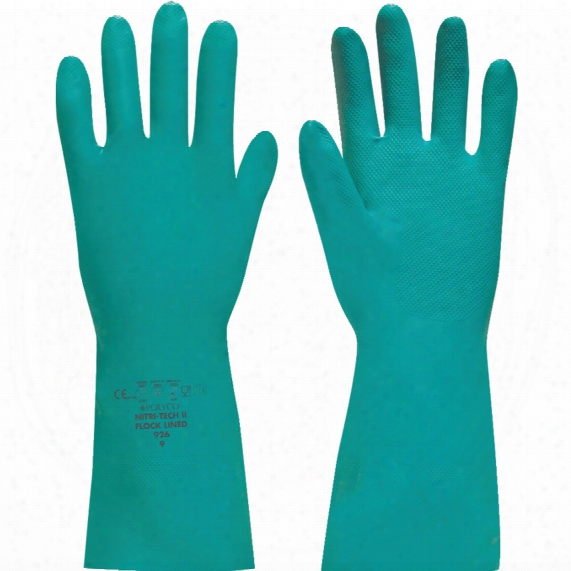 Polyco 905 Nitritech-3 Unlined Gloves Green Size 8
