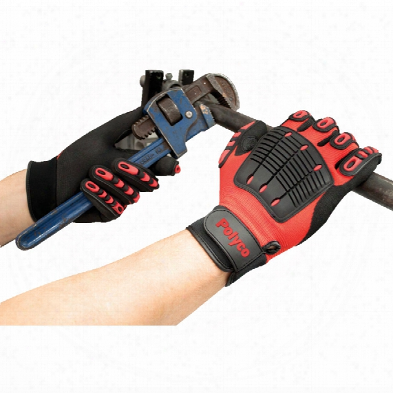 Polyco Mte Multitask-e Palm-side Coated Black/red Gloves - Size Xxl