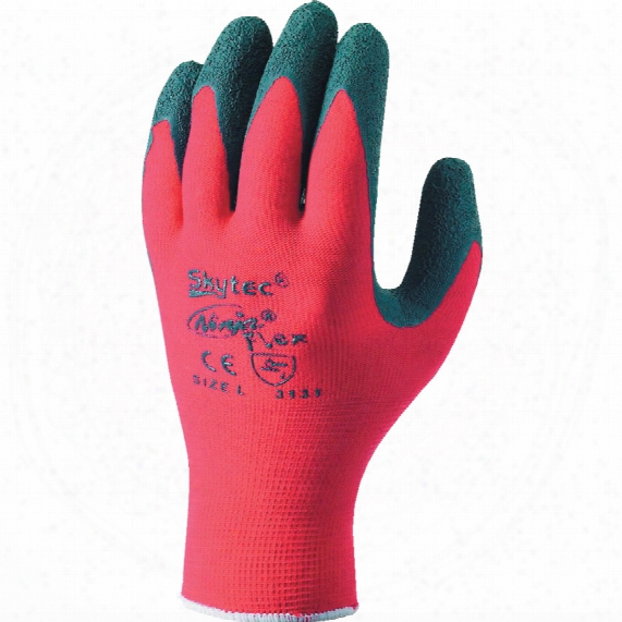 Skytec Sky19 Ninja Flex Palm-side Coated Red/grey Gloves - Size 8