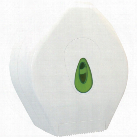 Solent Cleaning Mtd003 White Plastic Mini Jumbo Roll Dispenser