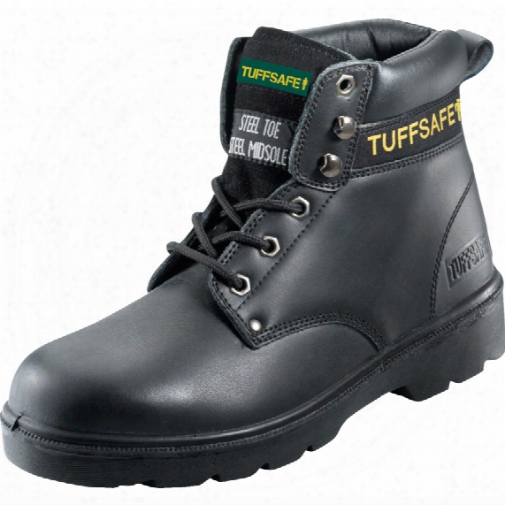 Tuffsafe Bab04 Men's Black Safety Boots - Size 6