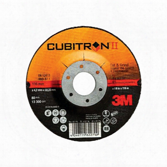 81155 100x4.2x9.53mm Cubitron Ii Cut & Grind T27