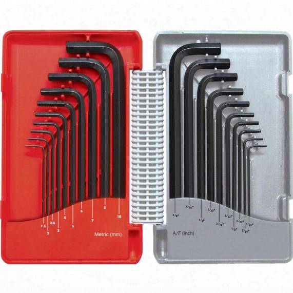 Kennedy Combination Long Arm B/ptmm/af Hex Key Set 20-pce