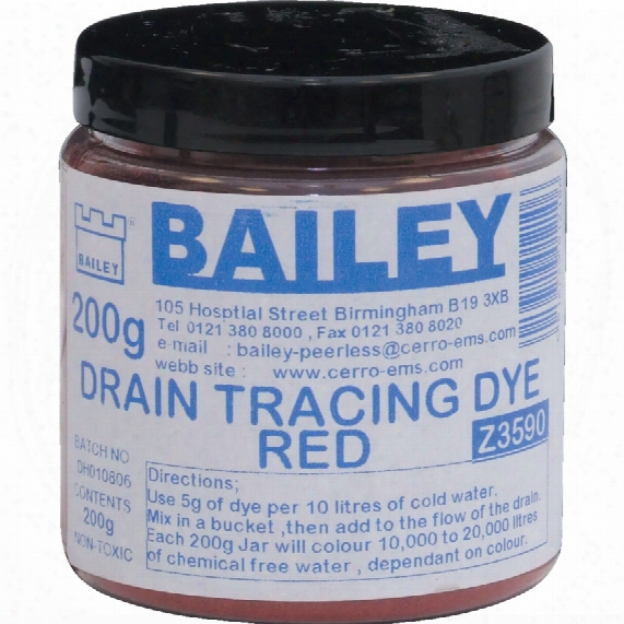 Kennedy Drain Trace Dye Red 200gm