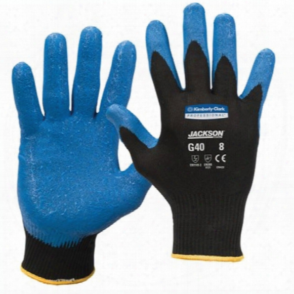 Kimberly Clark Professional 40225 G40 Palm-side Coated Blue/black Gloves - Size 7