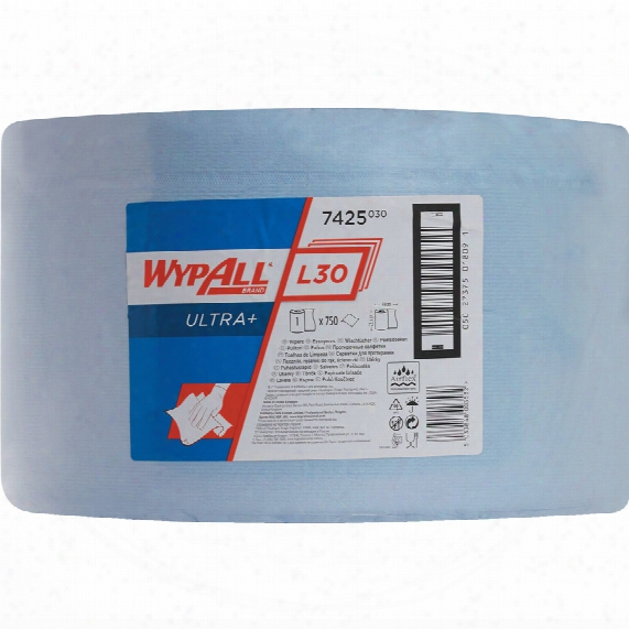 Kimberly Clark Professional 7425 Wypall L40 Wipers Large Roll Blue (1-roll)