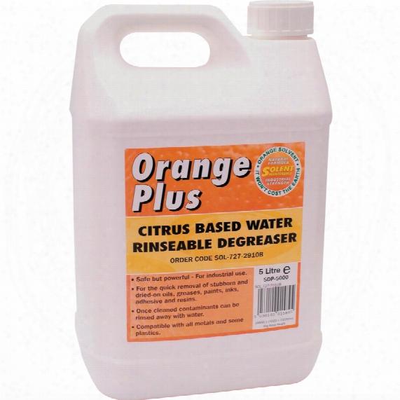 Solent Lubricants Orange Plus Citrus Based Water Degreaser 20ltr