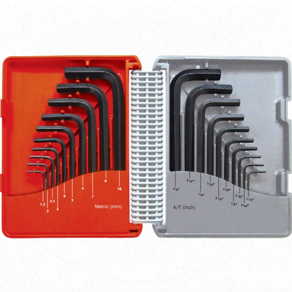 Kennedy Combination Short Arm Mm/af Hex Key Set (20-pce)