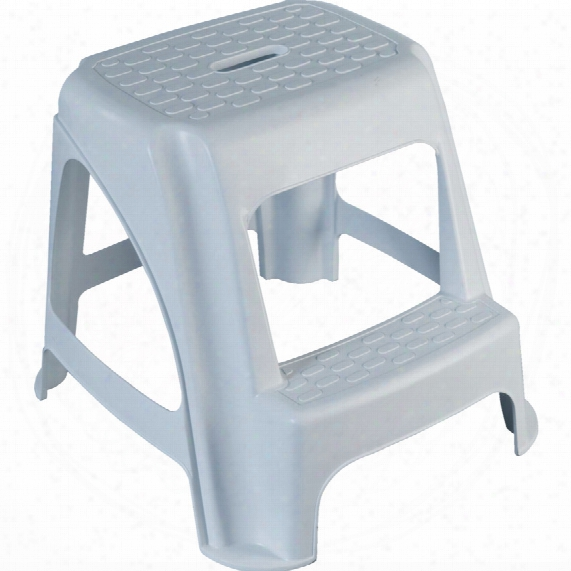 Lincoln Plastic Step Stool 480mm X 510mm X 410mm White