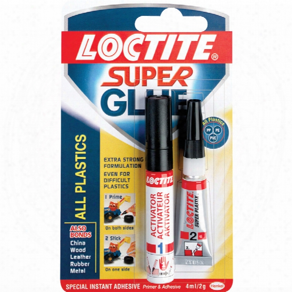 Loctite Super Glue All Plastics 2 Gm