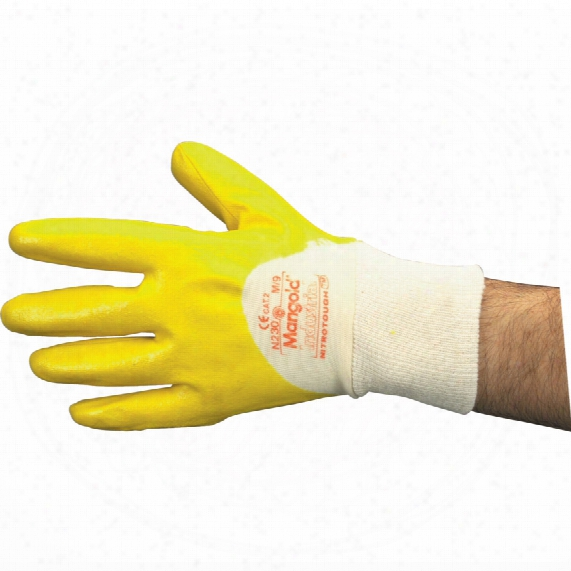 Marigold N230y Nitrotough Light Fully Coated Yellow Gloves - Size 9