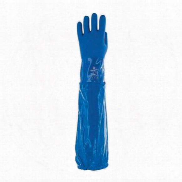 Marigold P57b Blue Gloves With Sleeves - Size 8