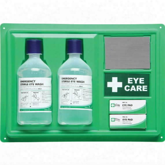 Medikiit Eye Wash Station C/w Mirror + 2x500ml + Eye Pads