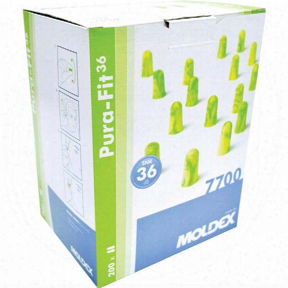 Moldex 7700 Purafit En352 Foam Ear Plugs (box-200 Pr)