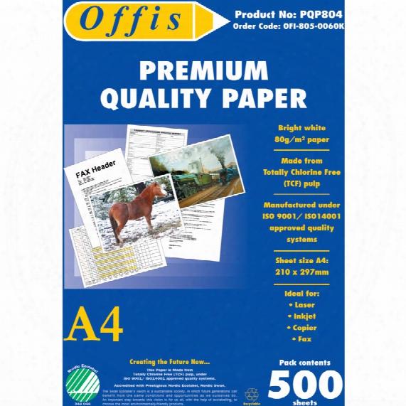 Offis A4 Premium White Copier Paper 80gsm Ream