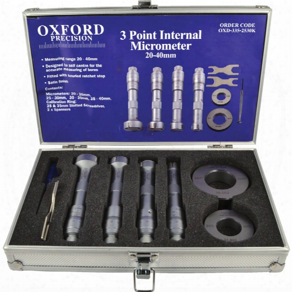 Oxford 20-40mm 3 Point Inside Micrometer