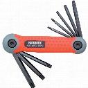 Kennedy Pro-Torq Torx Folding Hand Clip Set T9-T40 (8-Pce)