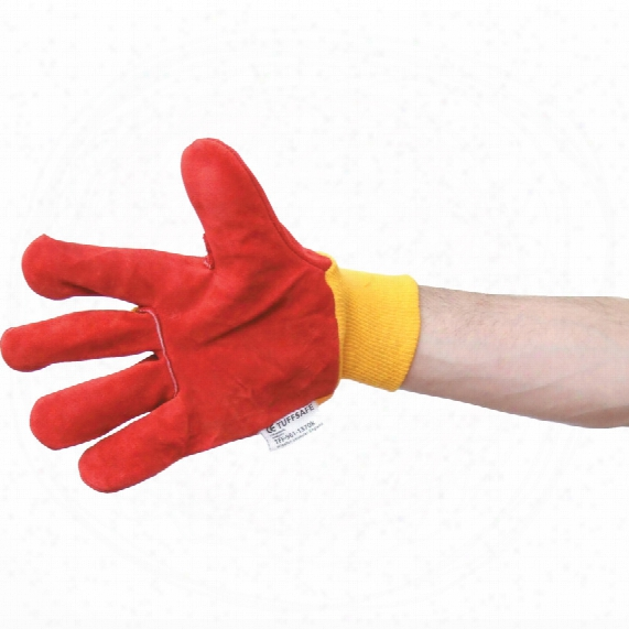 Tuffsafe Red Palm/yellow Back K/w Rigger Gloves Size 10