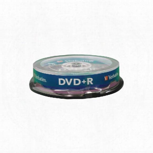 Verbatim Dvd+r 4.7gb 120min 16x Spindle (pk-10)