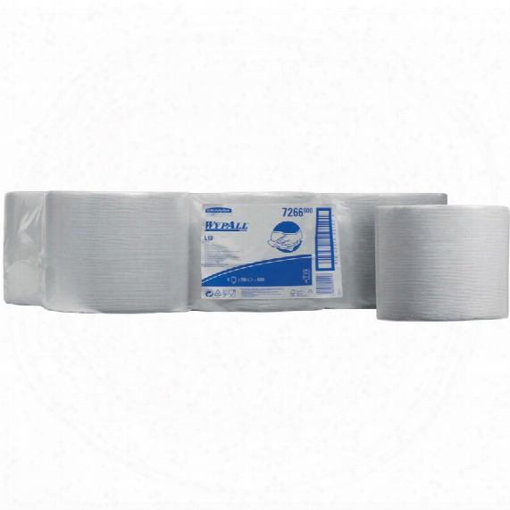 7266 Wypall L10 Wipers C/ Feed Roll White (6-rolls)