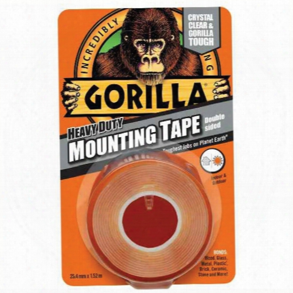 Gorilla Mounting Tape Heavy Duty Clear 25mmx1.5m