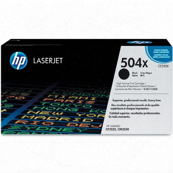 Hewlett Packard Ce250x Hp Laserjet Toner Cartridge Black