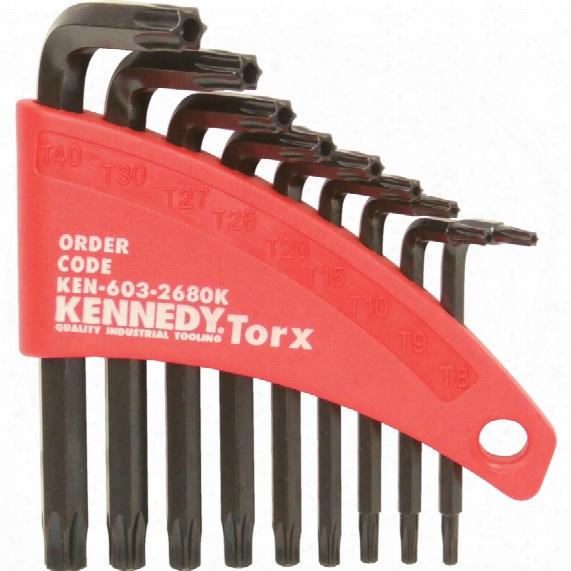 Kennedy T8-t40 Tamper-proof Torx Key Set (9-pce)