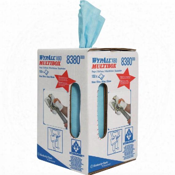 Kimberly Clark Professional 8380 Wypall X60 Cloths Mu Ltibox St/blue (1-roll)