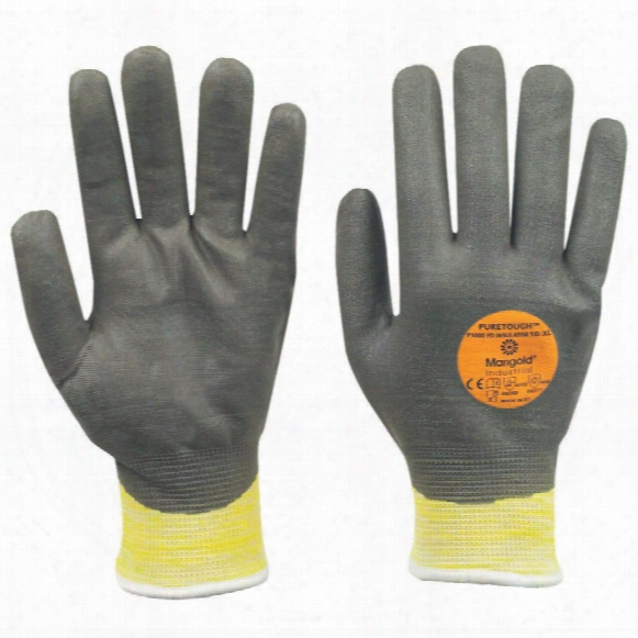 Marigold P3000fd Puretough Fully Coated Yellow/grey Gloves - Size 9