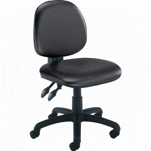 Medium Back Operator Chair Vinyl Black