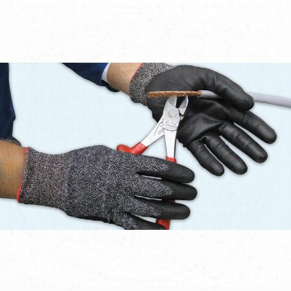 Polyco 8878 Dyflex Plus Pu Palm Coated Gloves Black Sz.10