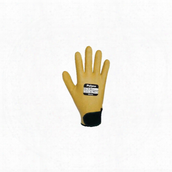 Polyco Dr300 Imola Fully Coated Yellow Gloves - Size 9