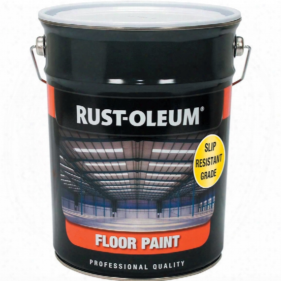 Rust-oleum Slip Resistant Floor Paint Safety Yellow 5ltr