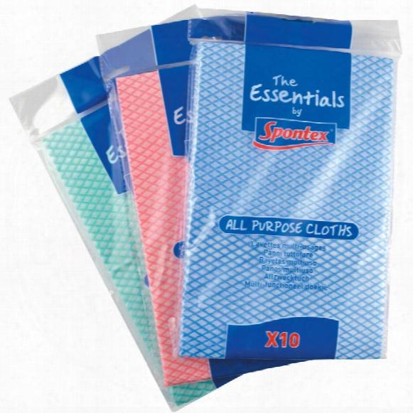 Spontex Essentials All Purpose Cloths (pk-10)