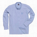 Portwest S107 Oxford Men'S Long Sleeved Shirts - Light Blue - Size 16
