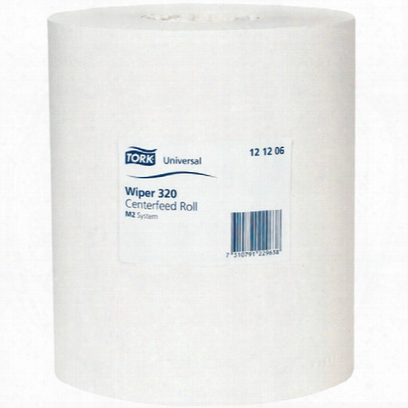 Tork 121206 Univ' Wiper 320 C/ Feed Roll 2ply White (pk6