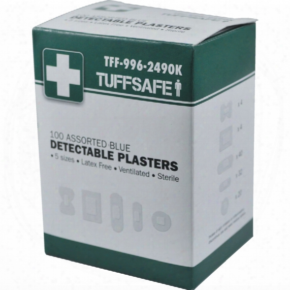 Tuffsafe Assorted Blue Detectable Plasters (box-100)
