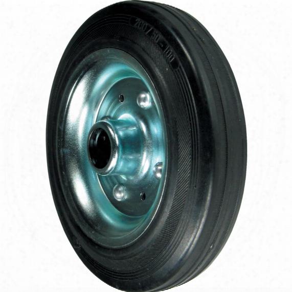 Atlas Workholders Rubber Tyre Pressed Steel Ctr 200mm-20mmb Wheel