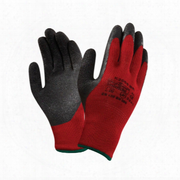 Marigold K2000br Palm-side Coated Red/black Gloves - Size 11