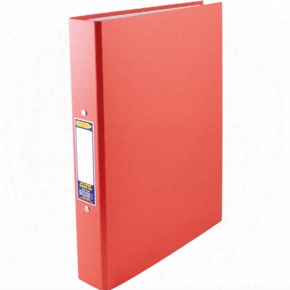 Offis A4 25mm 2-ring Binder Paper On Board Red (pk-10)