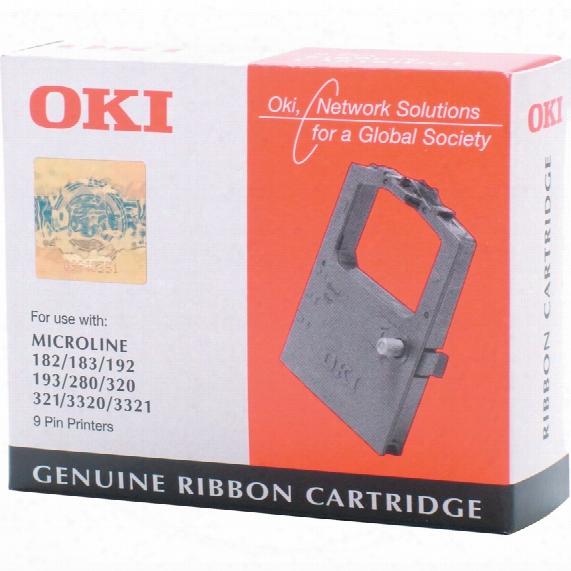 Oki 192 Microline Black Fabric Cassstte