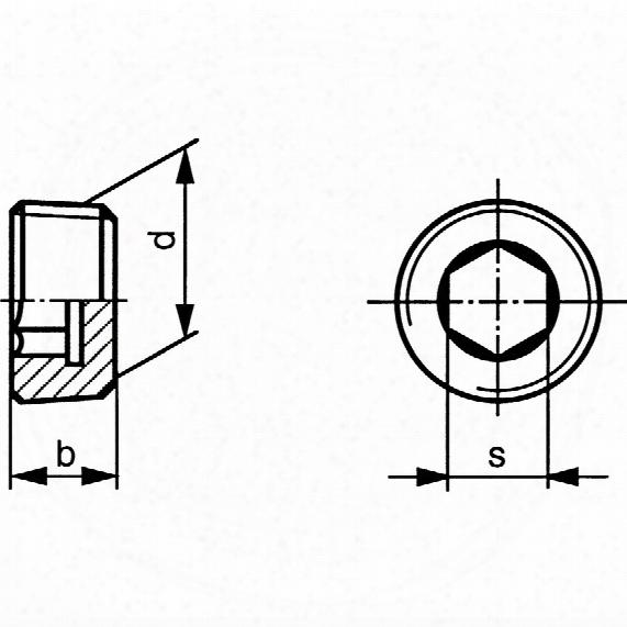 Qualfast R1/4 Skt Pipe Plug Din906(bspt) Thread - Pack Of 50