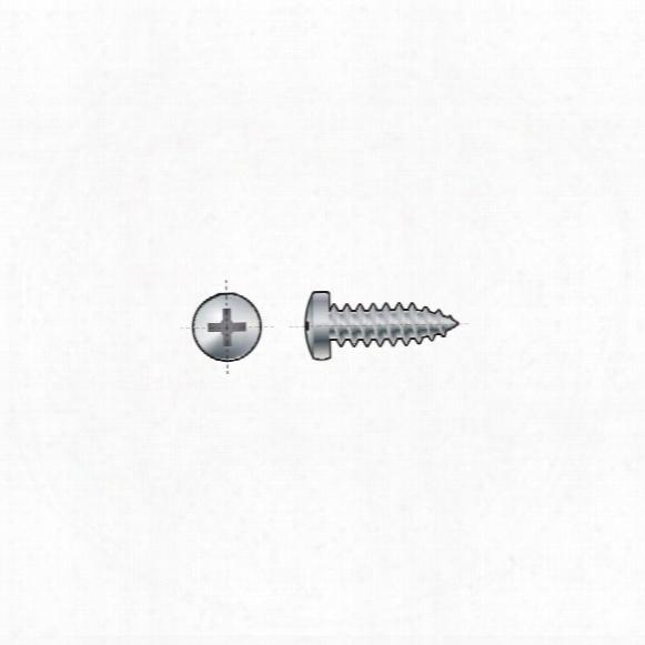 Qualfast St4.8x19mm Pozi Pan Head Tap Screw Bzp - Pack Of 200