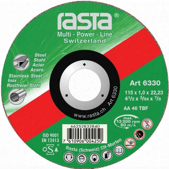 Rasta 6330ra 115x1.0x22.2mm Type-41 Metal Cutting Disc