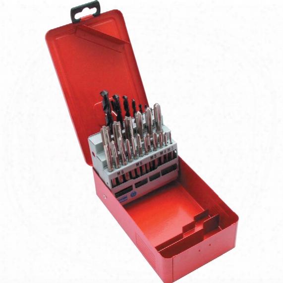 Sherwood Set Of 24 Hss Unf Drills & Taps No10 - 1/2