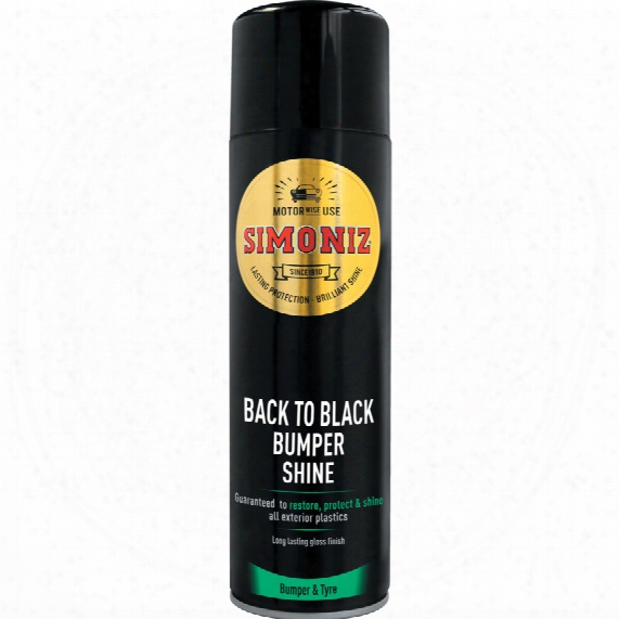 Simoniz Sapp0082a Back To Black Aerosol 500ml